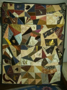 Crazy quilt from 1886.